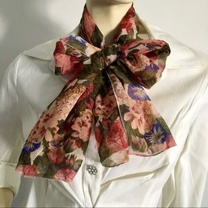 Nwt vtg. net 30 sheer floral scarf or shawl 🇺🇸